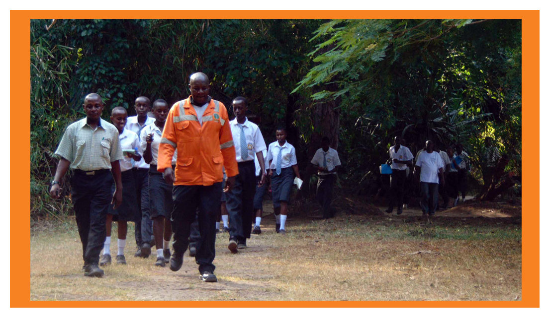 Kauai Secondary School visits Haller Park, Mombasa. The school emerged the winner of the GIC Phase I tree planting competition.